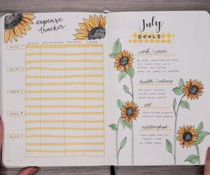 goals, happy mood, and sunflower design image