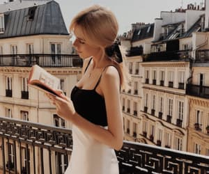 blond, book, and city image