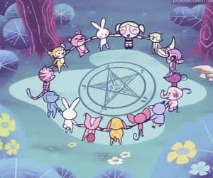 satan, bubbles, and cartoon image