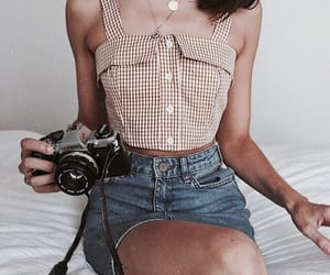 camera, clothes, and girl image
