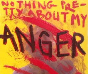 anger, art, and red image