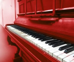 classic, piano, and red image
