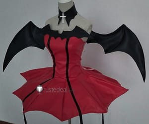 shugo chara cosplay, devil cosplay, and red cosplay costume image