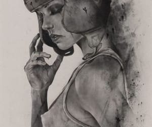 art, boxing, and woman image
