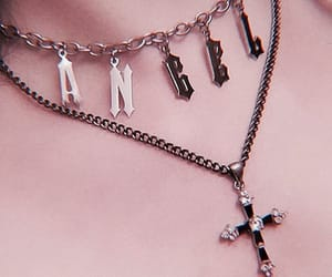 angel, neck, and necklace image
