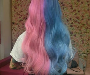 colorful hair, tumblr, and girl image