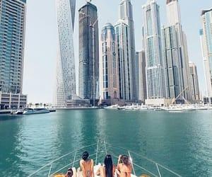 Dubai, boat, and sea image