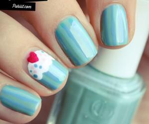nails, cupcake, and blue image