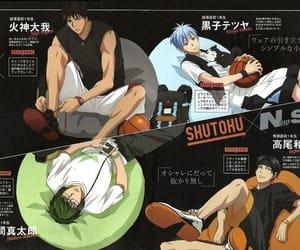 anime, kuroko tetsuya, and takao image