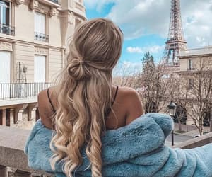 hair, paris, and girl image