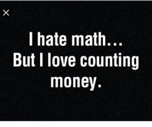 money and math image