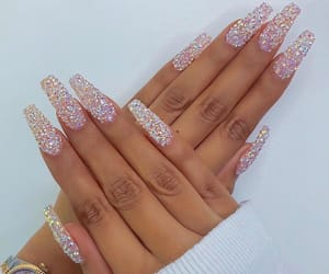 girly, white, and glitter image