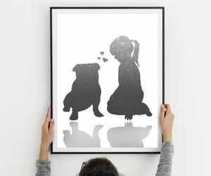 dog, english bulldog, and etsy image