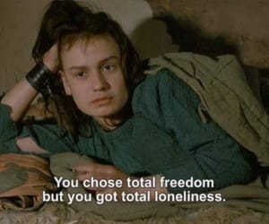 alone, quote, and freedom image