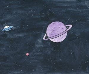 space, planet, and art image