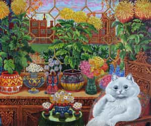 abstract, fine art, and louis wain image