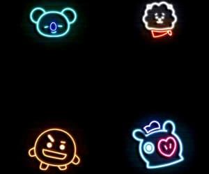 kpop, neon, and rj image