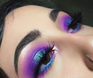 makeup, blue, and purple image