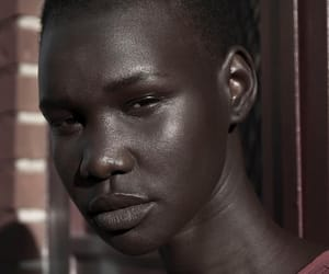 beauty, dark, and dark skin image