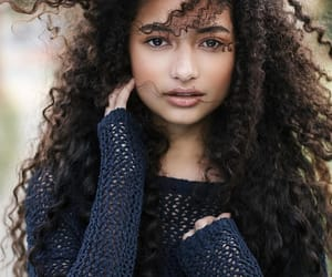 curls, curly hair, and natural hair image