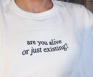 question, think, and tshirt image
