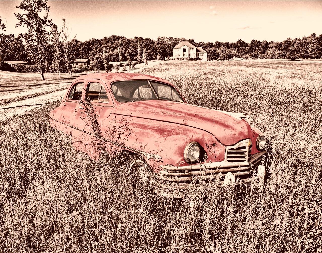 pink, vintage, and car image