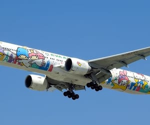 aesthetic, airplane, and sanrio image