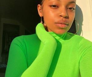 green, pretty, and black girl magic image