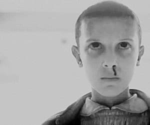 b&w, millie bobby brown, and black and white image