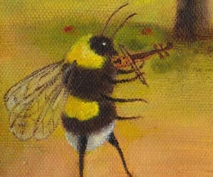 art, bee, and garden image