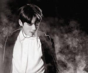 black&white, jk, and jeon jungkook image