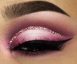 brown, eyebrows, and eyelashes image
