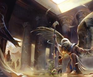egyptian, horus, and mythology image