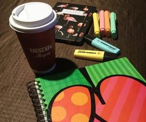 coffee, nescafe, and study image