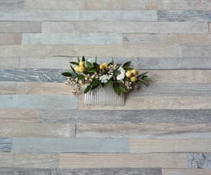 country wedding, etsy, and floral headpiece image