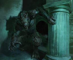 fantasy, horror, and werewolf image