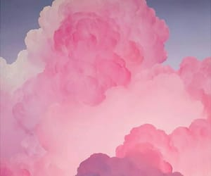 pink, clouds, and wallpaper image