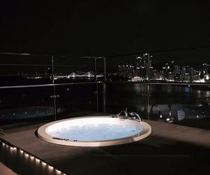 night, luxury, and jacuzzi image