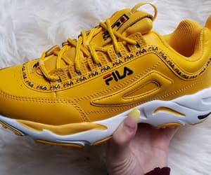 fashion, Fila, and mustard yellow image
