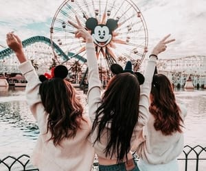 disney, friends, and travel image