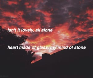 alternative, lovely, and Lyrics image
