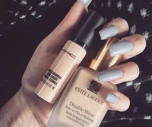 makeup, nails, and mac image