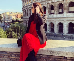 dress, italy, and coloseum image