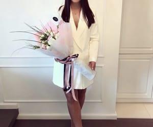 blazer, fashion, and flowers image