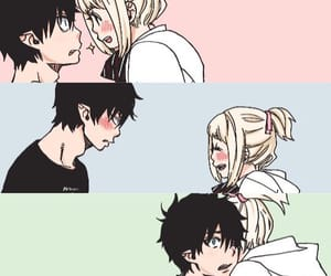 anime, couple, and ao no exorcist image