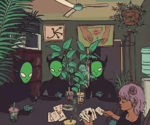 alien, dark, and digital image