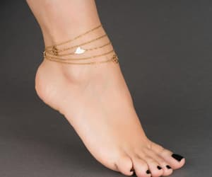 etsy, foot bracelet, and chain anklet image