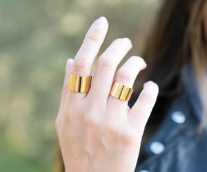 etsy, gold band ring, and thick ring image