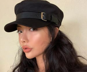 asian, cap, and girl image