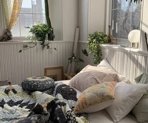 bed, bedroom, and comfy image